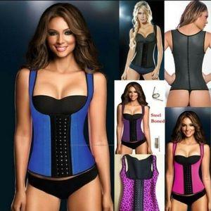 3 hook 9 steel bones waist sliming corset vest